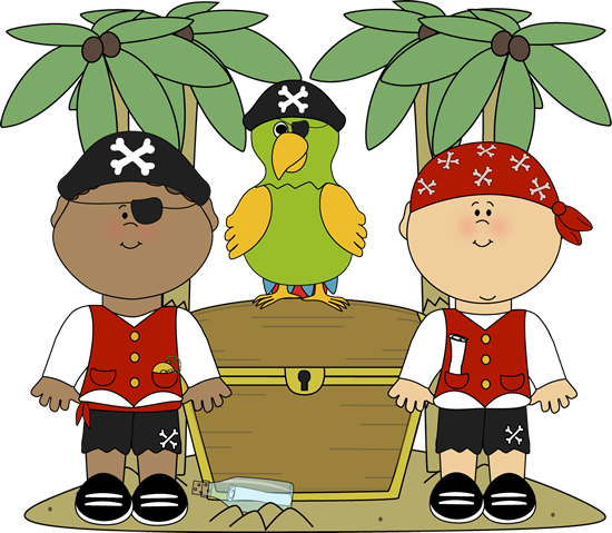 Pirates With Parrot And Treasure-Pirates with Parrot and Treasure-16