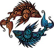 Pisces Tribal Tattoo Design T