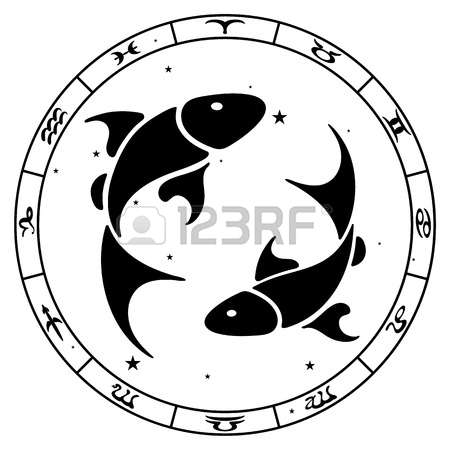 zodiac sign Pisces, vector illustration Illustration