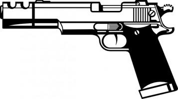 Pistol gun clip art Free . - Handgun Clip Art