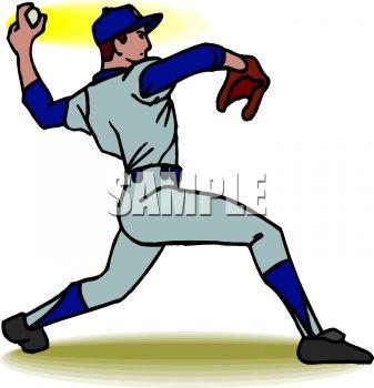 pitcher clipart - Baseball Pitcher Clipart