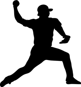 Pitcher Clipart Image Baseball Pitcher Throwing A Pitch To A Batter