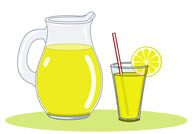 pitcher glass of lemonade. Size: 56 Kb From: Drink and Beverage Clipart