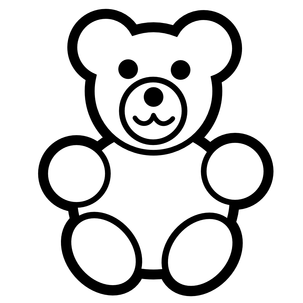 ... Pitr Teddy Bear Icon Black White Line Art Scalable Vector Graphics SVG  Clip Art Xmas Christmas 999px.png 78(K) ...