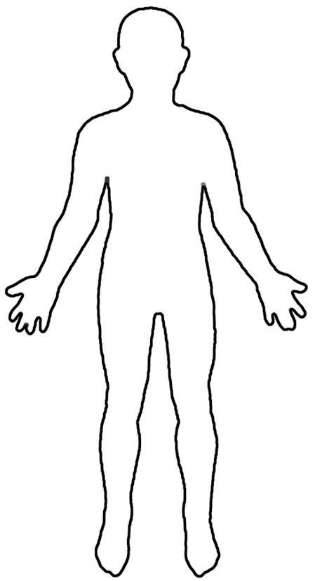 Pix For Child Body Outline Cl - Body Clip Art