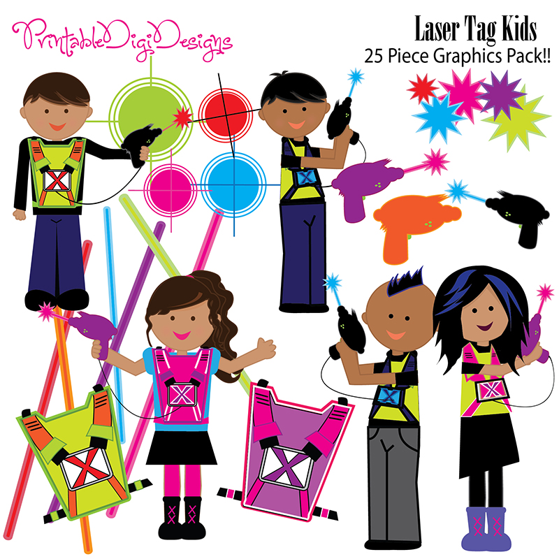 Pix For Laser Tag Clipart