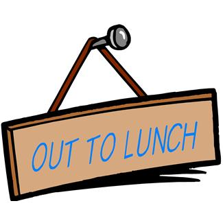 Pix For Out To Lunch Sign Clipart
