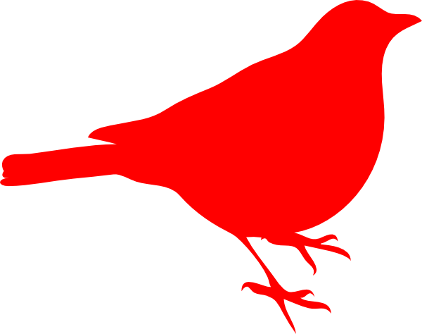 Pix For Red Robin Clipart - Red Bird Clipart