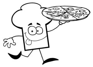 pizza clipart black and white-pizza clipart black and white-15