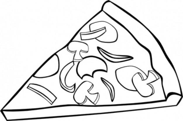 pizza clipart black and white-pizza clipart black and white-2