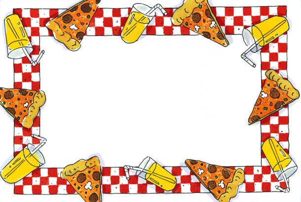pizza clip art border | Pizza Party Border | Desserts | Pinterest .