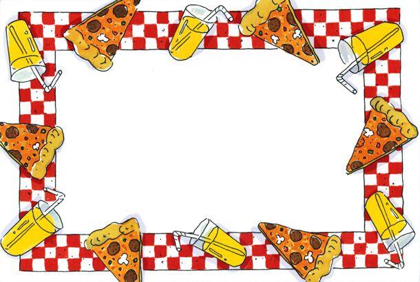 ... pizza clip art border | Pizza Party Border | Desserts | Pinterest ...
