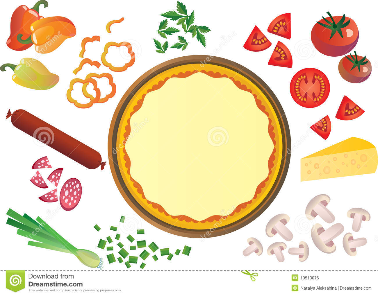 Pizza ingredients Royalty Free Stock Image