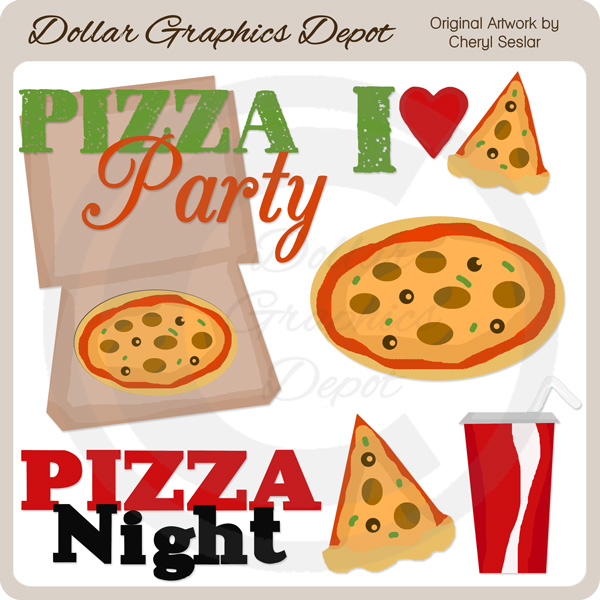 Pizza Party - Clip Art