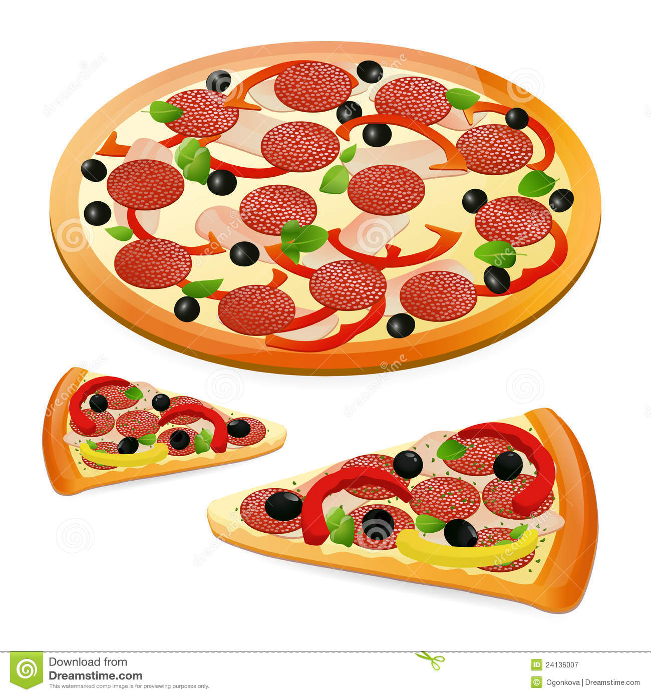 Pizza royalty free stock .