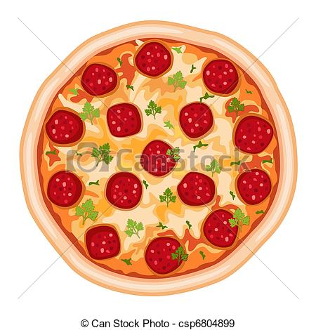 ... Pizza Salami - Tasty Pizza Salami. I-... Pizza Salami - Tasty pizza salami. Isolated over white.-16