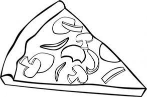 ... Pizza slice clipart black and white -... Pizza slice clipart black and white ...-16