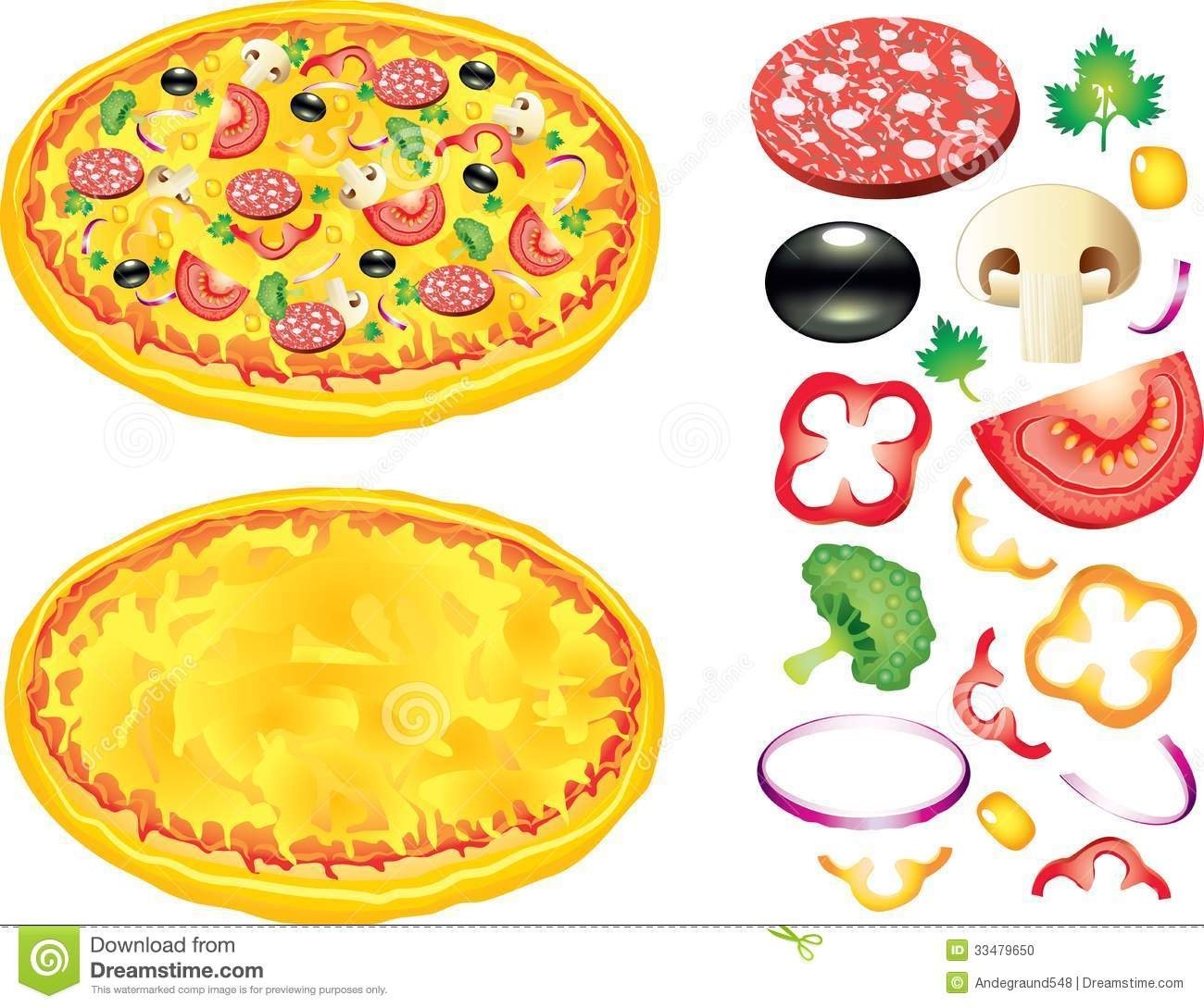 Pizza Toppings Clip Art Free .