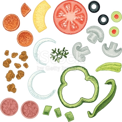photograph about Printable Pizza Toppings titled 42+ Pizza Toppings Clipart ClipartLook