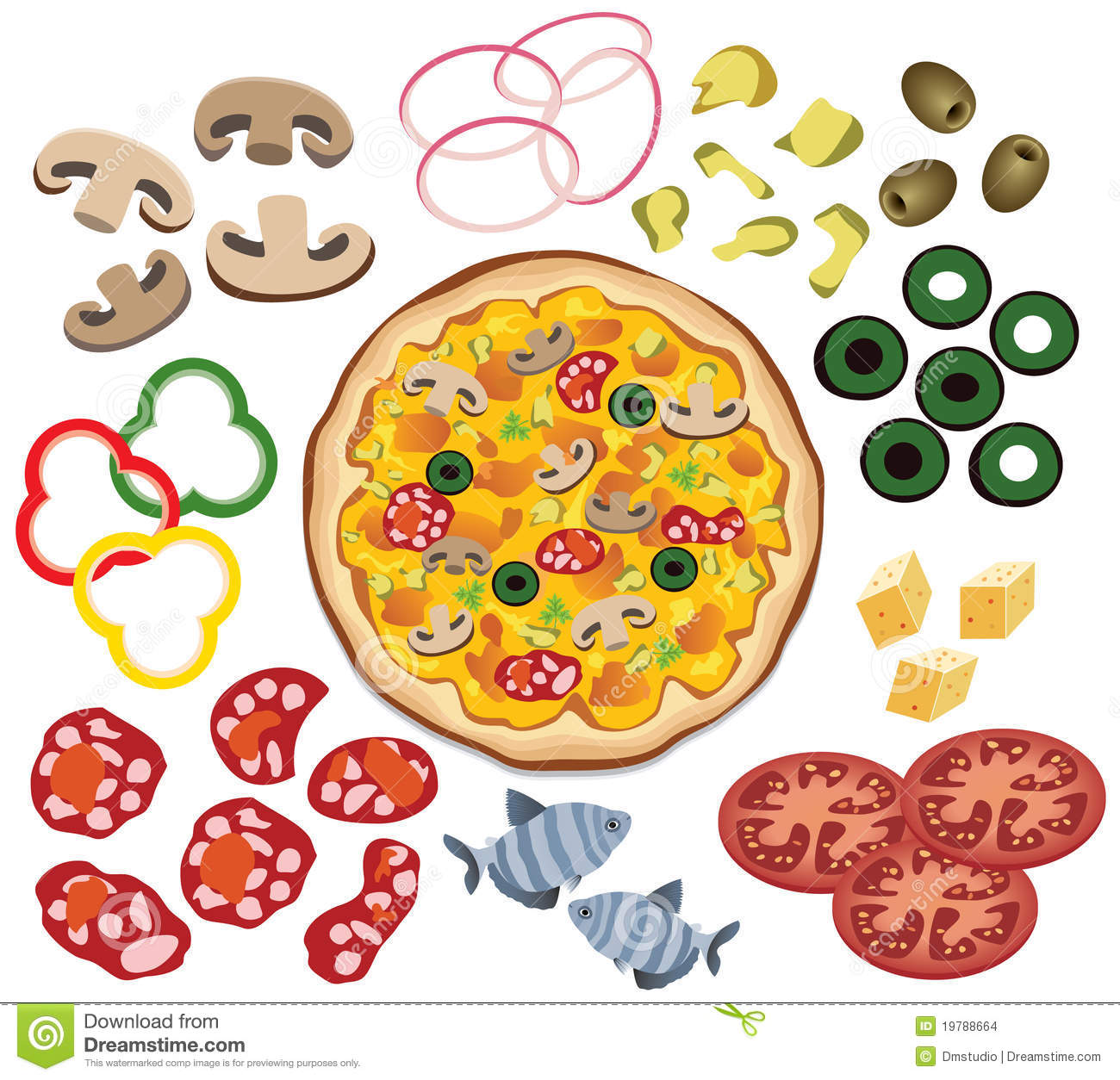 graphic regarding Printable Pizza Toppings named Pizza Toppings Clipart Glimpse At Clip Artwork Photographs - ClipartLook
