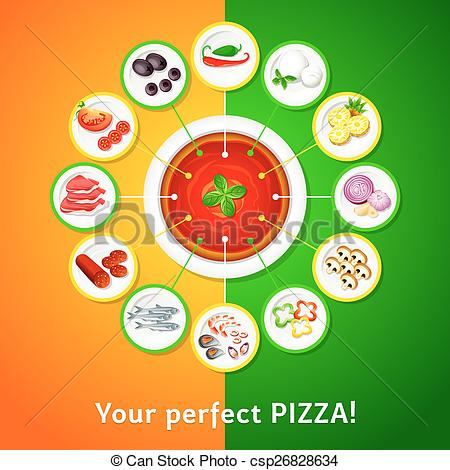 ... Pizza toppings - Colorful toppings for perfect pizza choice