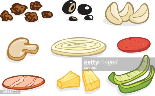 Pizza Toppings : Vector Art