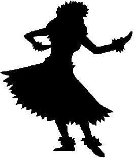 Pk Mini Hula Girls 1 75 - Hula Clipart