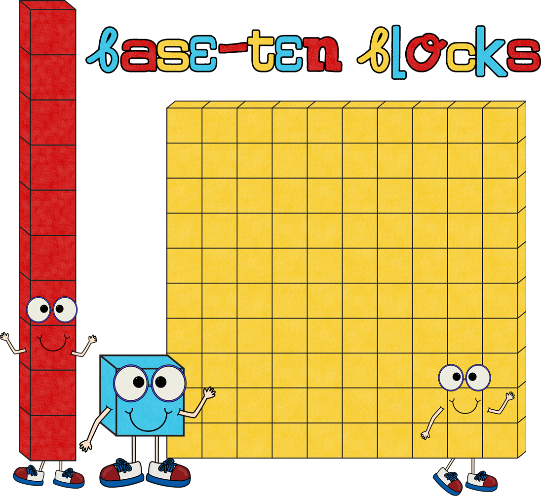 Place Value Cubes Clipart - Base Ten Blocks Clip Art