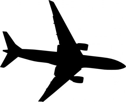 Plane Silhouet clip art vector, free vector images - Clipart library