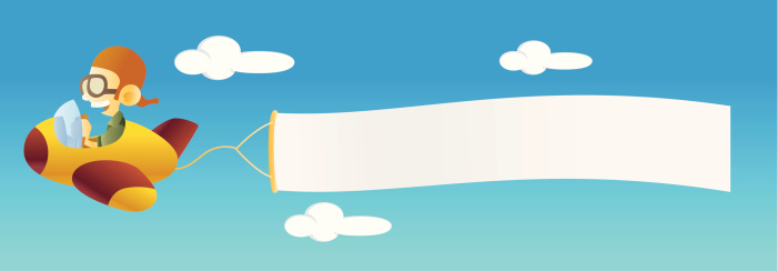 Plane with Banner Clip Art-Plane with Banner Clip Art-3