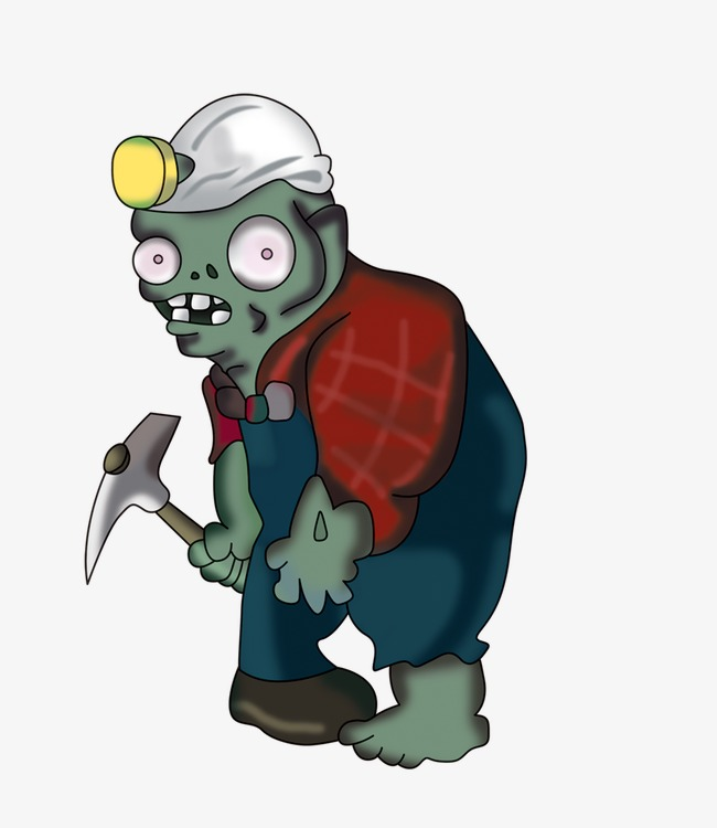 mining zombie, Plants Vs. Zombies, Zombi-mining zombie, Plants Vs. Zombies, Zombie PNG Image and Clipart-6