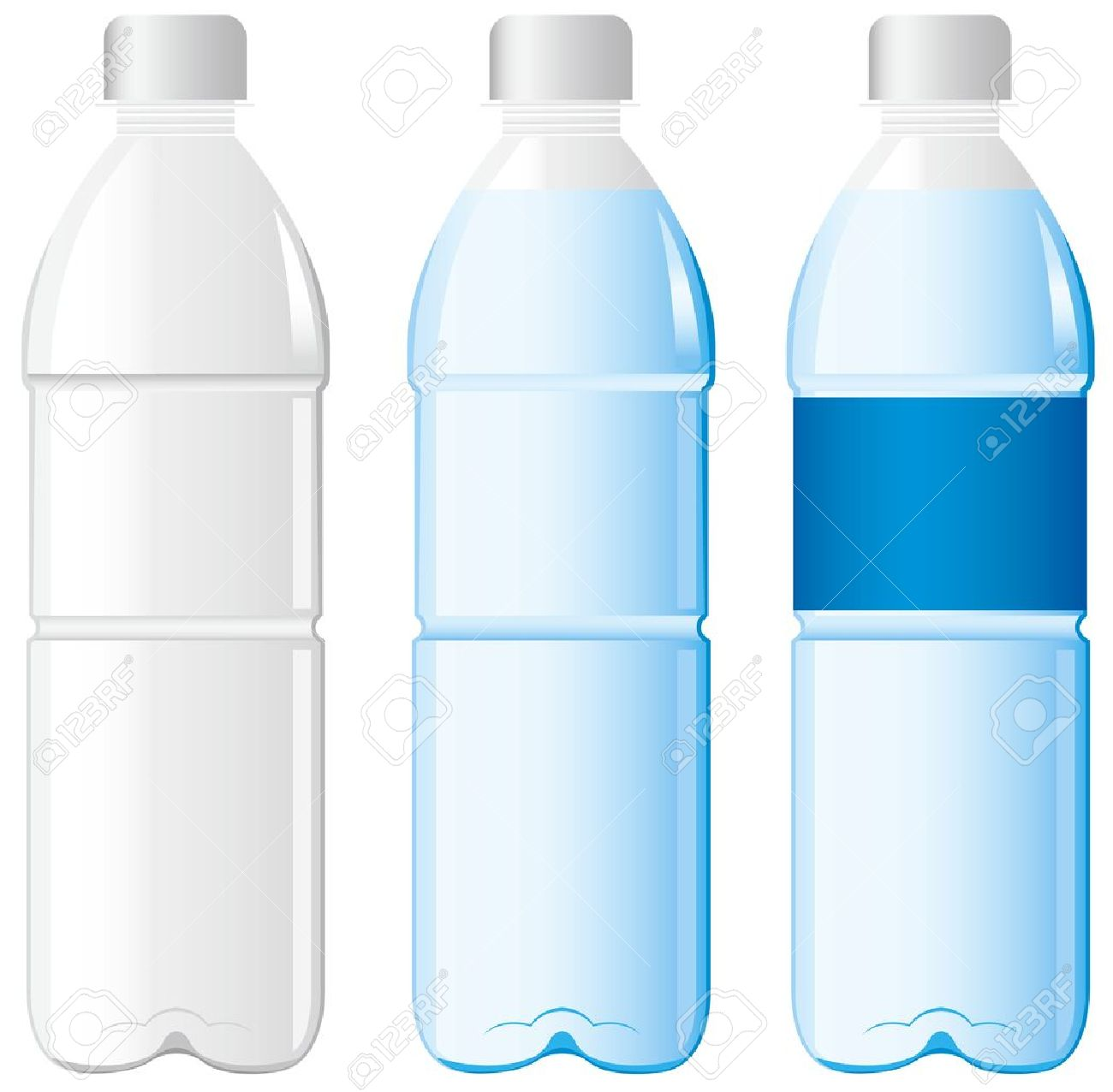 plastic bottle: bottle of water Vector Illustration
