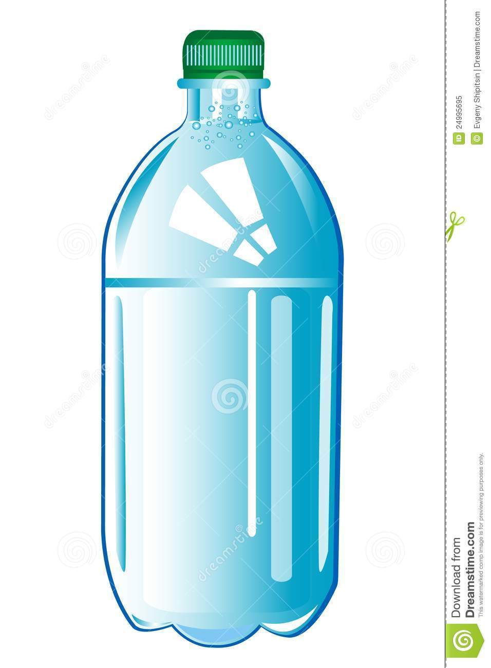 Plastic Bottle With Water .