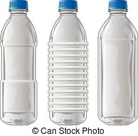 Plastic Bottles - Illustration of three types of clear... Plastic Bottles  Clipart ...