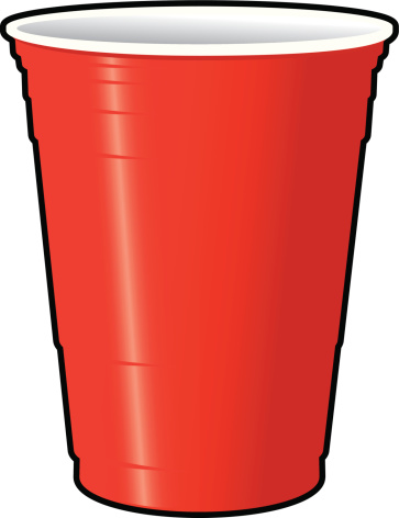 Plastic Cups Only Clipart. Red Solo Cup -Plastic Cups Only Clipart. Red Solo Cup vector art .-5