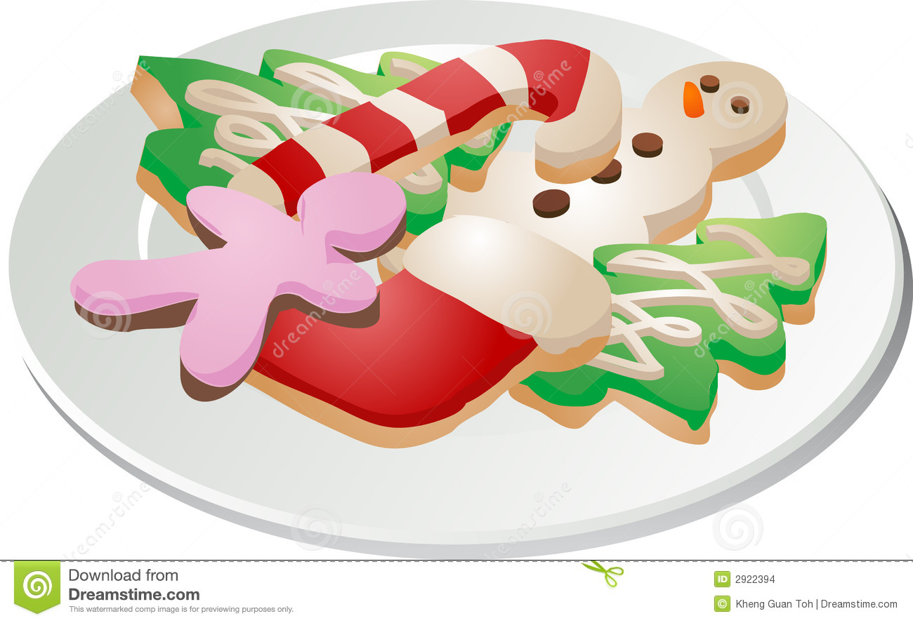 Plate Of Christmas Cookie Clip Art Images Pictures Becuo