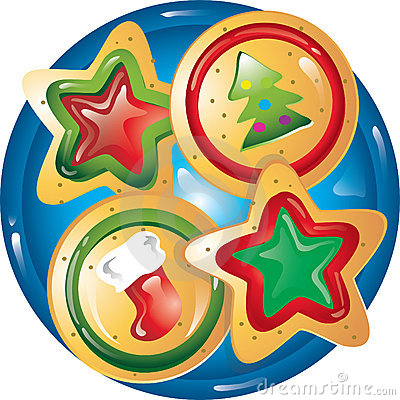Plate Of Christmas Cookie Clip .-Plate Of Christmas Cookie Clip .-11