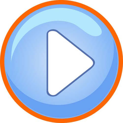 Blue and orange play button