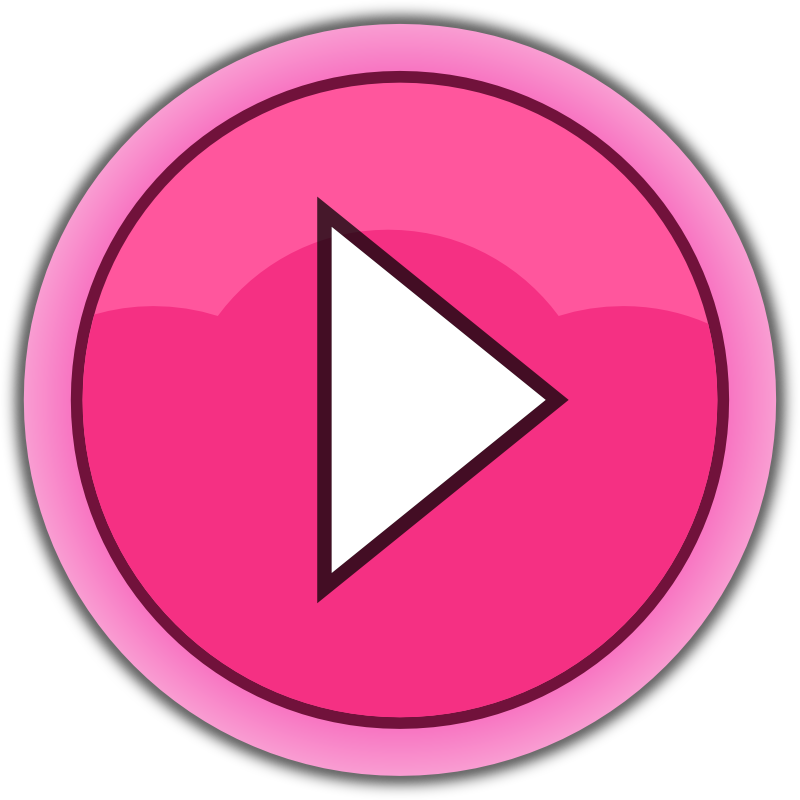 Button clipart: Free Pink Play Button Clip Art