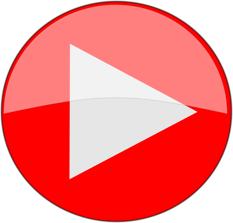 Play, Red, Symbol, Button, Media, Round