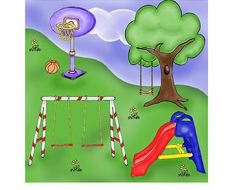 Play Park Digital Clip Art Playgr Ound C-Play Park Digital Clip Art Playgr Ound Clipart Swing Clip Art-11