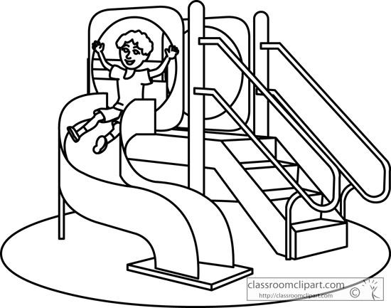 Playground Clip Art Black And White