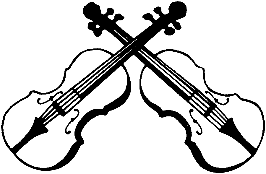 Playing Violin Clipart Black And White-playing violin clipart black and white-2
