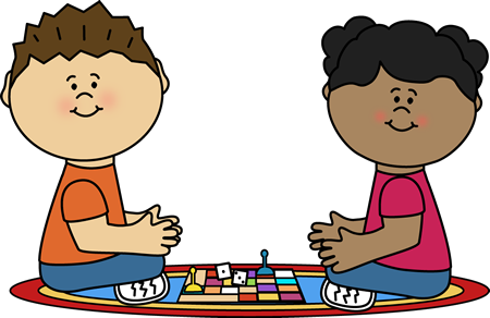 Playing Board Game Clip Art