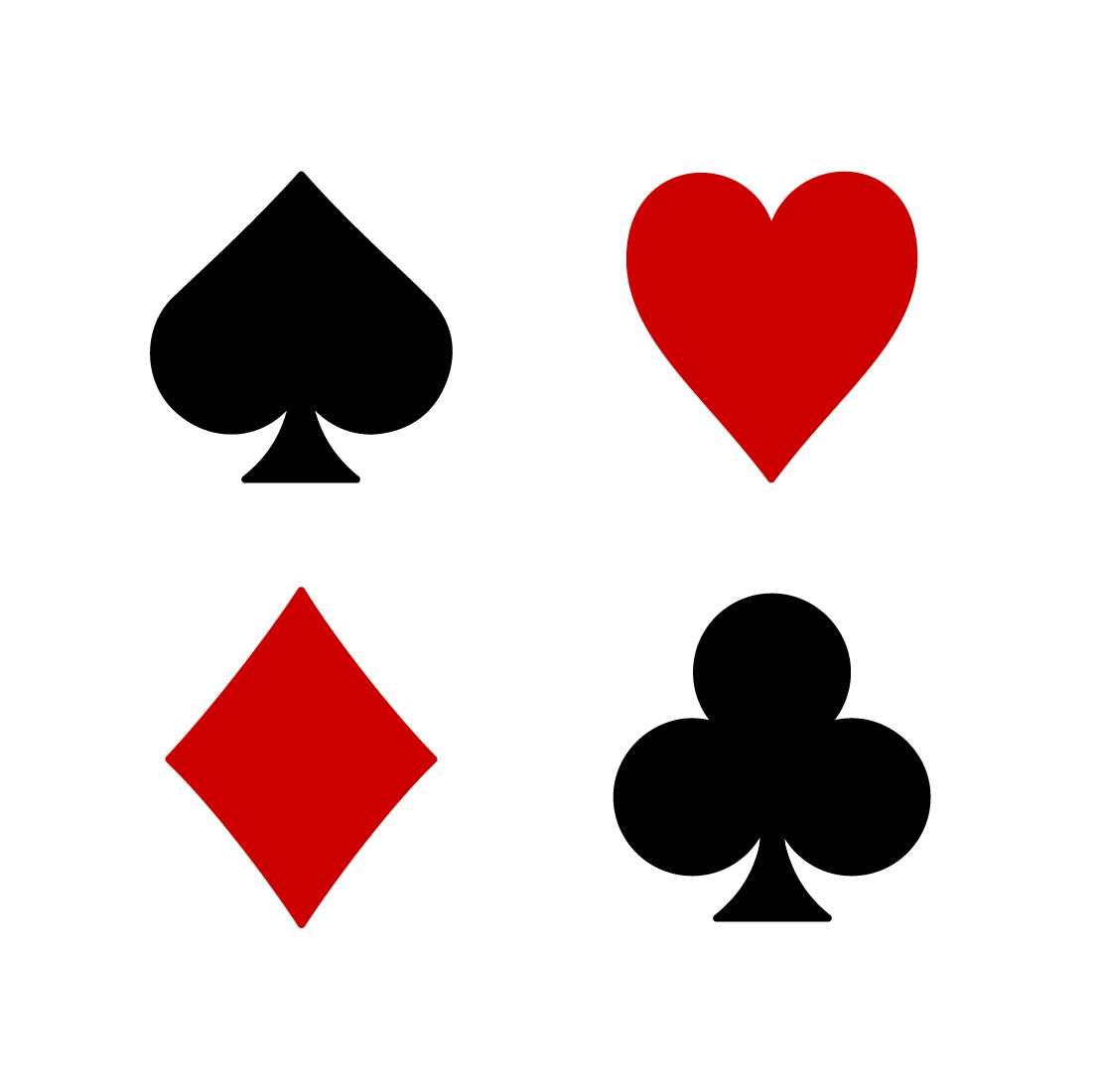 Playing Card Suits Clipart #1