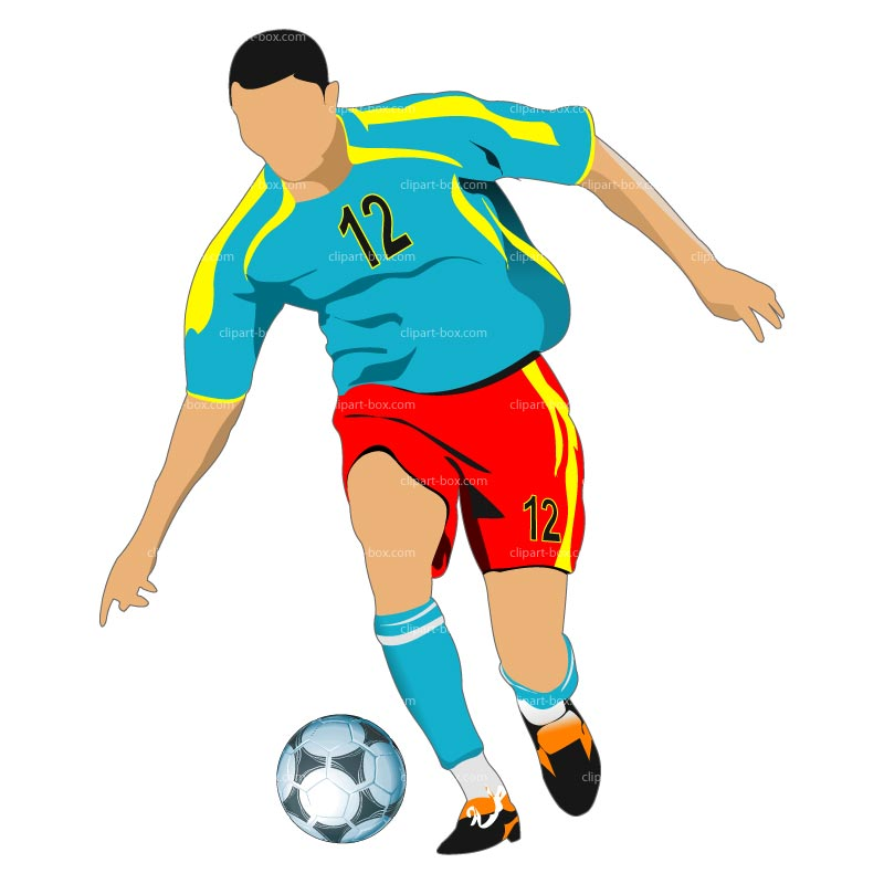 Playing Soccer Clip Art