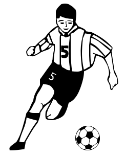Playing Soccer Clip Art .-Playing Soccer Clip Art .-7