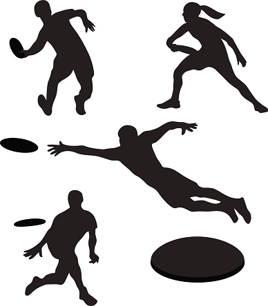 Playing Ultimate Frisbee Clip Art-Playing Ultimate Frisbee Clip Art-13