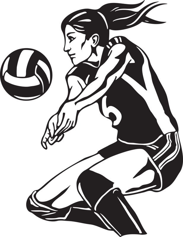 Playing volleyball clipart 6 .