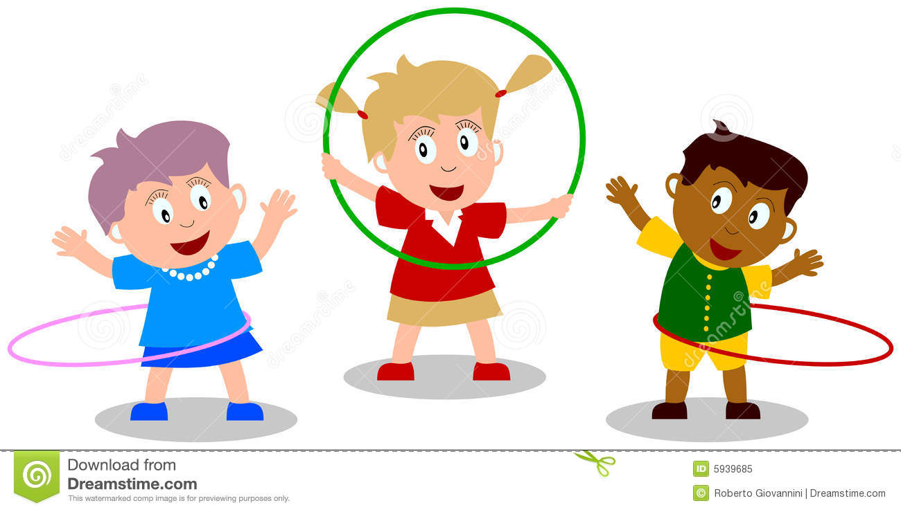 Playing With Hula Hoop You Ca - Hula Hoop Clip Art